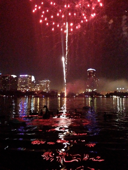 Fireworks at Lake Eola