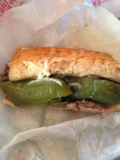 This photo does this Italian beef sandwich no justice.