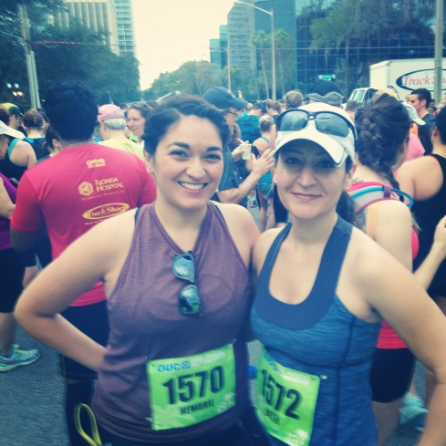 Beth and I ready to run 13.1