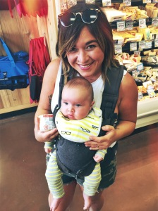 My sister and my nephew at Trader Joe's